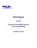 2012-10 User Group Meeting Full PALS Report
