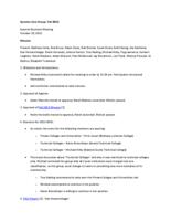 2013-10 Systems User Group Meeting Minutes and Agenda