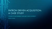 2014-4 Acquisitions/Serials Workday Patron Driven Acquisition