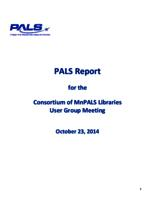 2014-10 User Group Meeting full PALS report