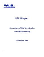 2009-10 User Group Meeting Full PALS Report