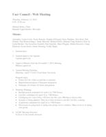 2014 02 User Council Meeting Minutes