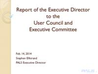 2014 02 UC_EC Meeting Executive Director Report