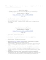 2020-02-13 Executive Committee Meeting Minutes